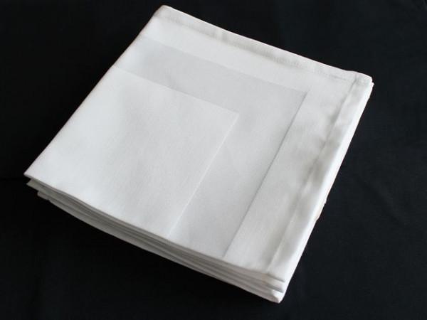 Gastronomie-Serviette weiß, mit Atlaskante 40x40cm