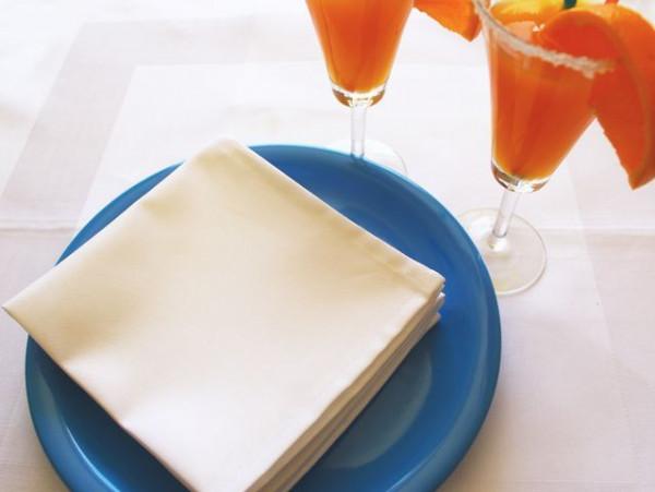 Cocktailserviette weiß, ohne Muster 30x30