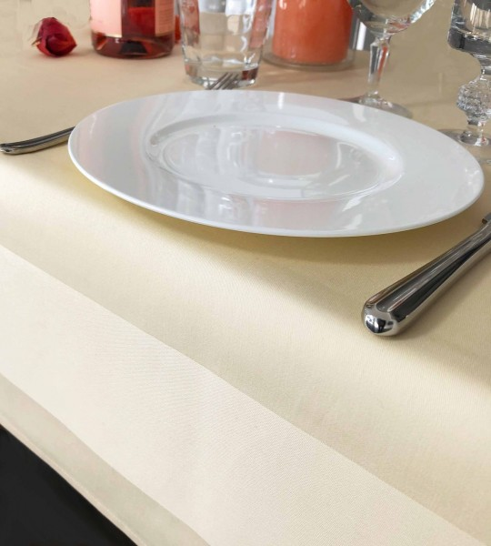Gastronomy table topper, champagne, with satin band 100x100