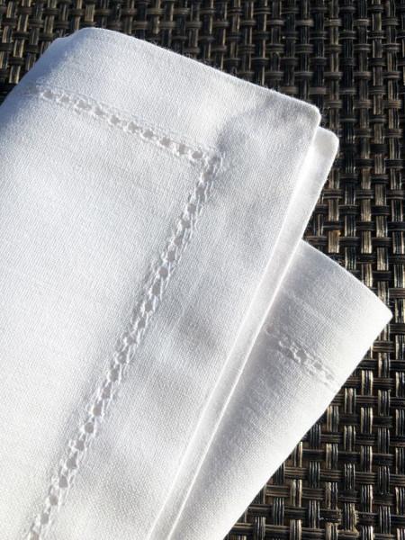 Stoffserviette weiß, mit Hohlsaum 40x40cm
