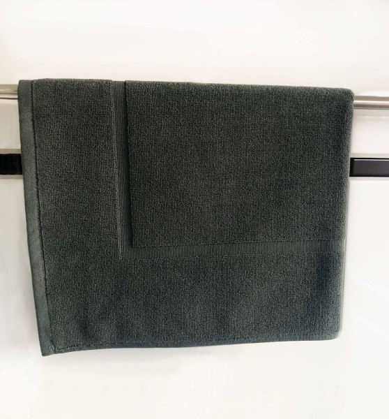 Hotel bath mat, twisted terry toweling, anthracite, 50x70 cm