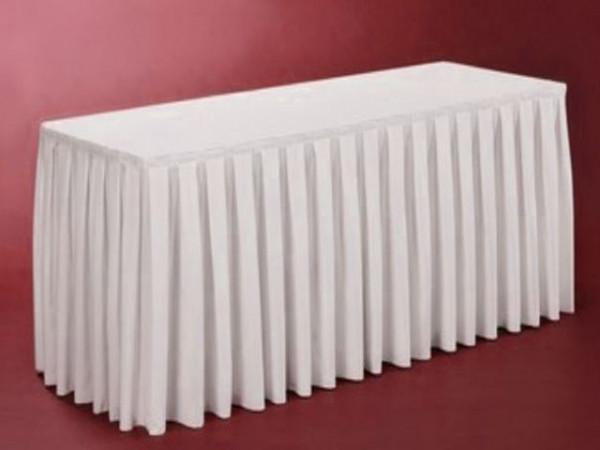 Skirting für Buffet-Tisch, weiß, Länge 410cm, 490cm, 580cm