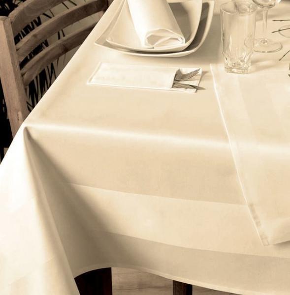 Gastronomie-Mitteldecke, sekt, mit Atlaskante 100x100