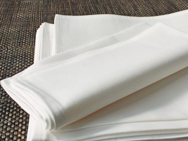 Gastronomie-Serviette, weiß, ohne Muster 50x50