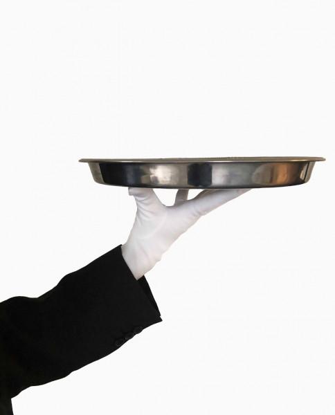 Kellnerhandschuhe / Servierhandschuhe weiss / schwarz